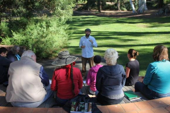 Teaching in the gardens