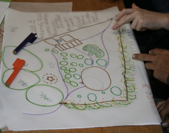 Overlay design of Phase two for the Bungendore community garden